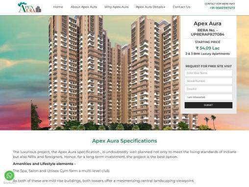 Buy Apex Aura Property In Sector-1 Noida Extension