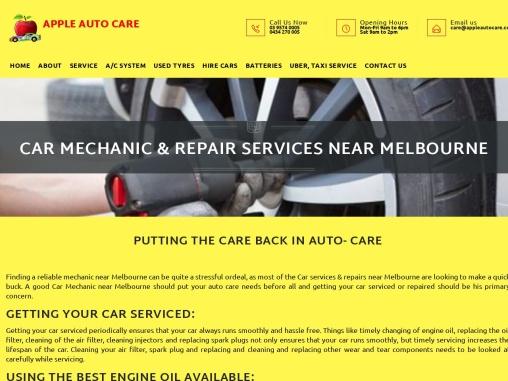 Car Repair Melbourne – Apple Auto Care