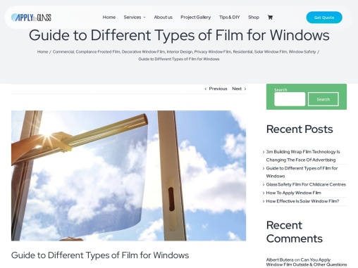Guide to Different Types of Film for Windows