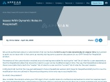 Issues with Dynamic Roles in PeopleSoft – Appsian