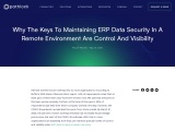 Why the Keys to Maintaining ERP Data Security in a Remote Environment are Control and Visibility