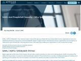 SAML and PeopleSoft Security – Why you should care