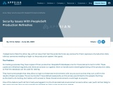 Security Issues With PeopleSoft Production Refreshes