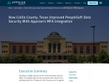 Collin County Improves PeopleSoft Data Security And Blocks External Threats