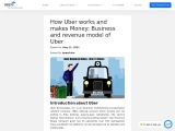Uber: Business and Revenue Model