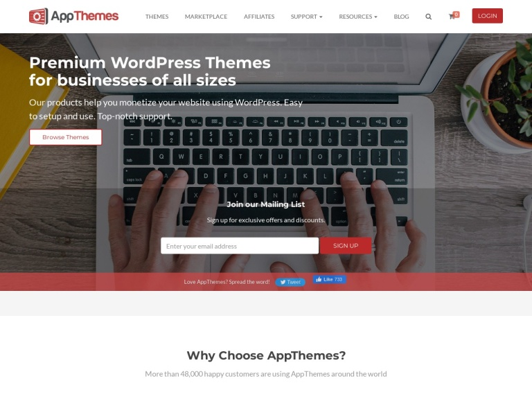 Appthemes screenshot