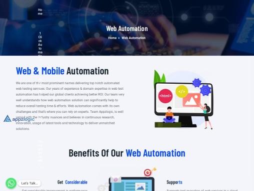 Website Test Automation – Mobile Test Automation Services & Company – Appzlogic