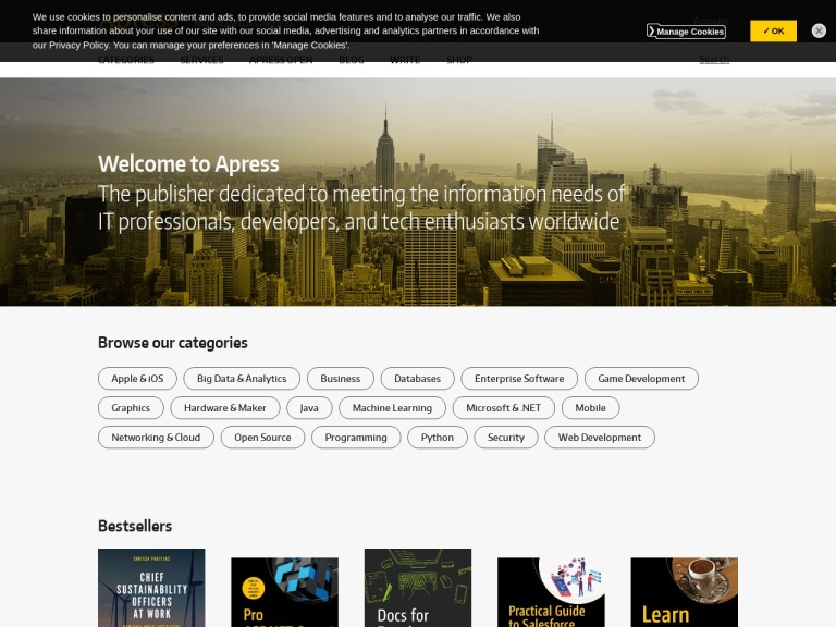 Apress screenshot