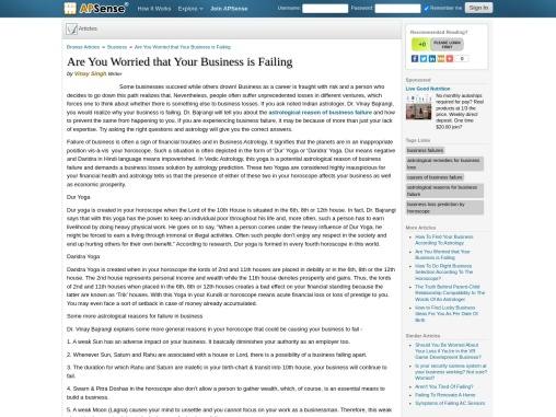 Business Failures Prediction – Astrological Causes – Business Losses Solution by Astrology