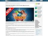Enjoy play free games on your favorite bingo sites new!