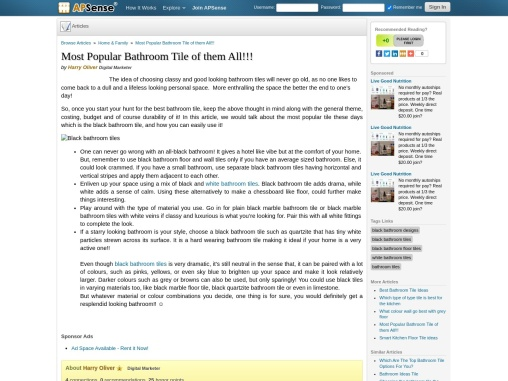Most Popular Black Bathroom Tile