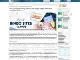The gaming best bingo sites to win on play Bingo Sites New