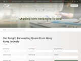 Sea freight from Hong Kong to India