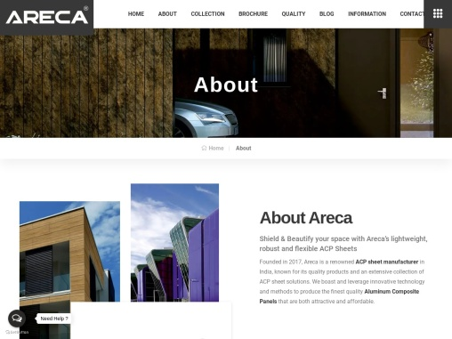 Leading ACP Sheet Manufacturer of India – Areca