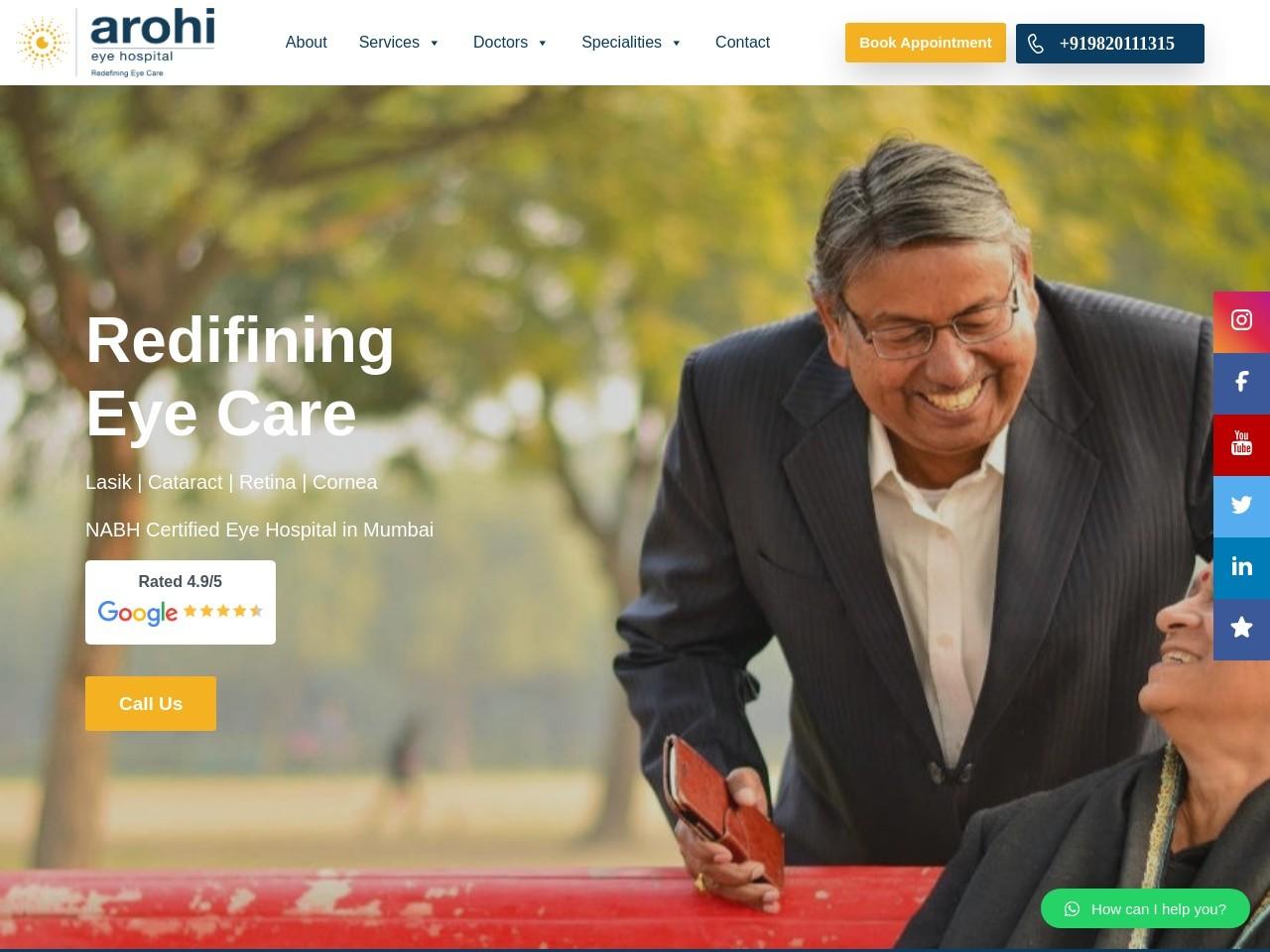 Eye specialist in Mumbai – Best eye dr in Mumbai. Arohi Eye Hospital