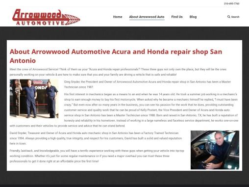 Qualified Honda Mechanic in San Antonio, TX at Arrowwood Automotive