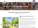 Therapeutic  Yoga Course In Rishikesh
