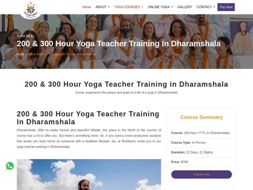 200 & 300 Hour Yoga Teacher Training In Dharamshala