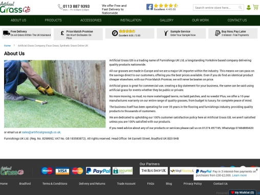 Get a fake turf for your lawn from the best Artificial Grass Company!