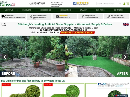 Looking for Artificial Grass Edinburgh? Buy from Artificial Grass GB!