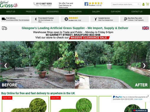 Create a lust, green outdoor space with Artificial Grass Glasgow!