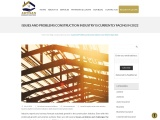 ISSUES AND PROBLEMS CONSTRUCTION INDUSTRY IS CURRENTLY FACING IN 2021