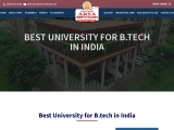 Best university for b tech in India