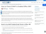 How to Check if IMAP is Enabled Office 365?