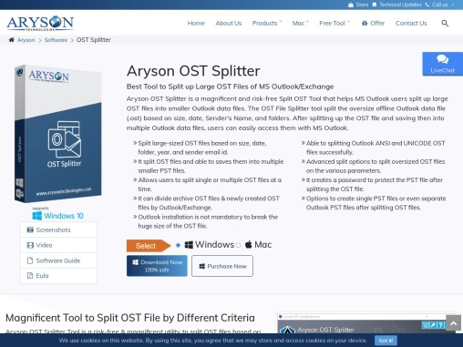 Best Tool to Split up Large OST Files of MS Outlook/Exchange