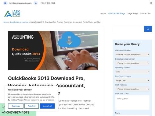 Download QuickBooks 2013 Pro, Premier, POS, Enterprise & Accountant