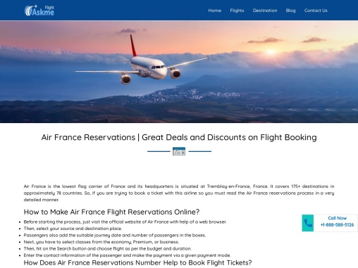 Air France Reservations | Great Deals and Discounts on Flight Booking