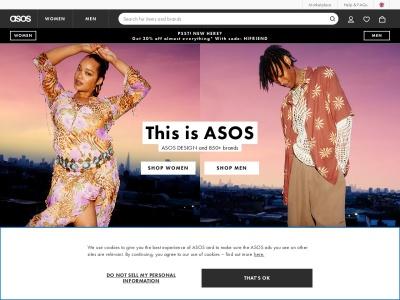 英國ASOS官網首頁