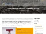 Duplex Steel Instrumentation Valves Suppliers
