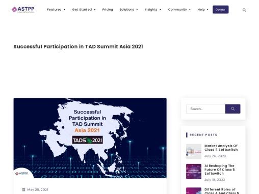 Successful Participation in TAD Summit Asia 2021