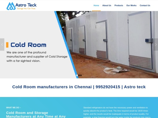 Cold Room manufacturers in Chennai   9952920415   Astro teck