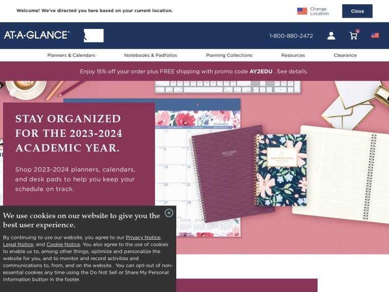 AT-A-GLANCE screenshot