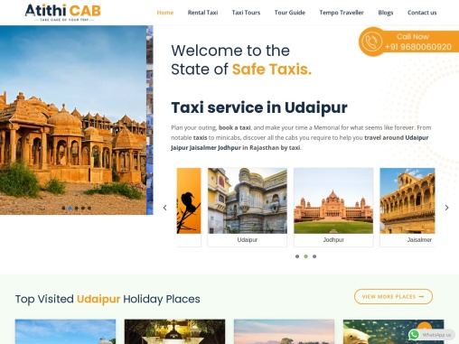 Hire Taxi Services in Rajasthan