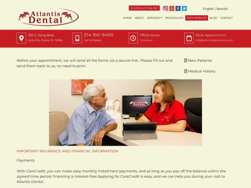 New Patients   General Dentistry in Dallas   Atlantis Dental