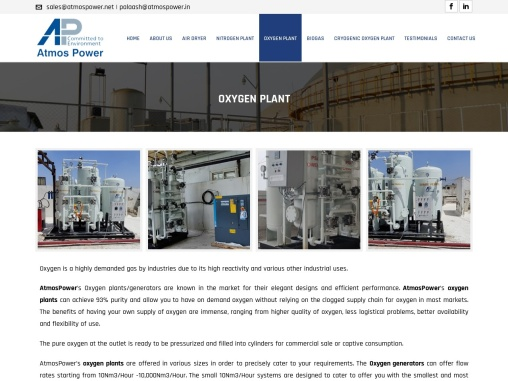 Best PSA Oxygen Plant Manufacturer Company in Ahmedabad, India