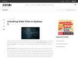 Installing Slate Tiles in Sydney
