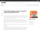 Top 5 technologies to keep in mind for mobile App development