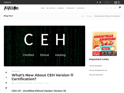 What's New About CEH Version 11 Certification?