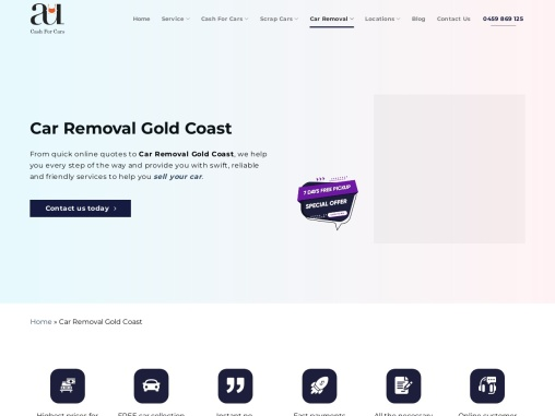Top car removal gold coast Australia