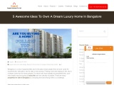 5 Awesome Ideas To Own A Dream Luxury Home In Bangalore