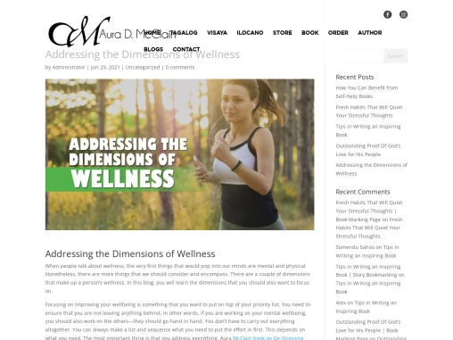 Addressing the Dimensions of Wellness