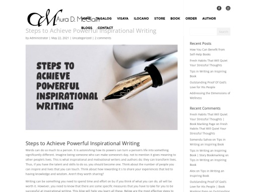 Steps to Achieve Powerful Inspirational Writing by Aura D. McClain