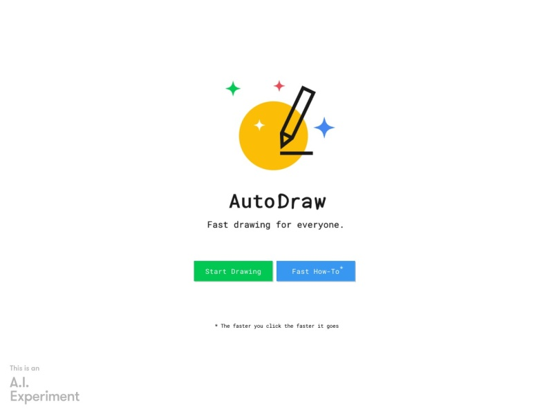 AutoDraw | 人工知能が絵を書いてくれるサイト