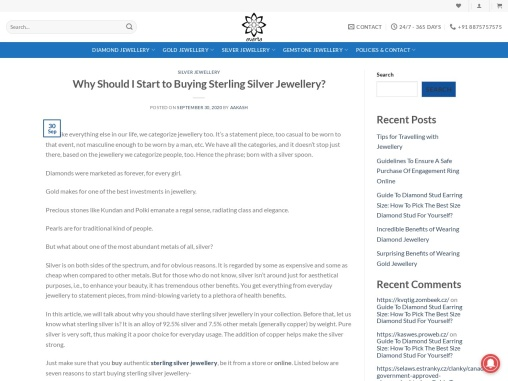 Why buy sterling silver jewellery?