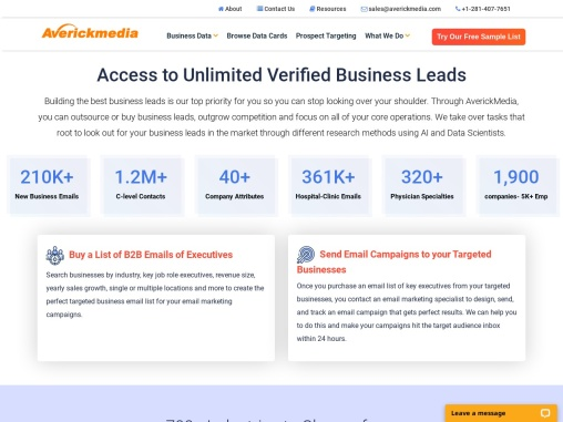Buy Responsive Business Leads List. 150K New Business Leads Every Month