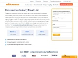 Construction Industry Email List | Construction Companies Email Addresses